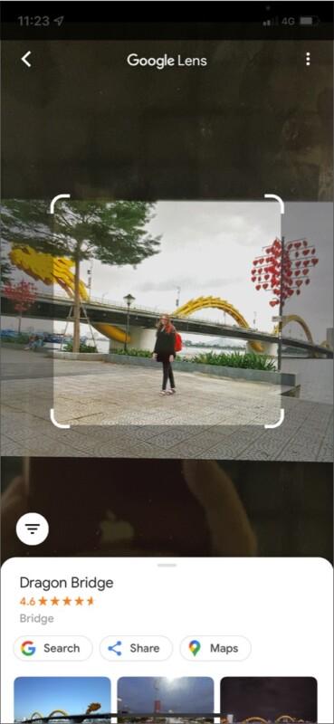 Google Lens Определение ориентиров