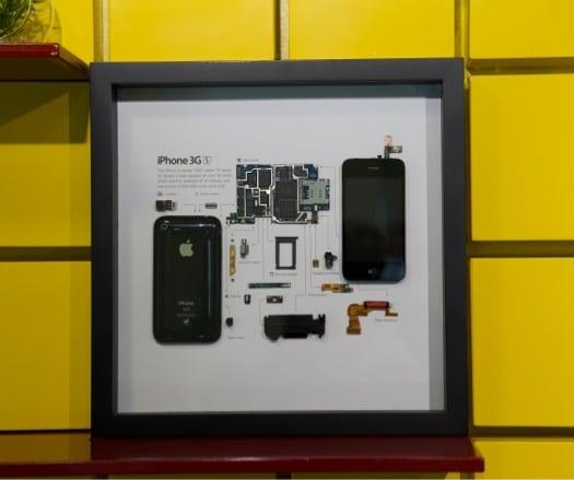 Сетка рамки iPhone 3GS в витрине