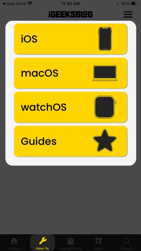 How-To section in iGeeksBlog iOS app