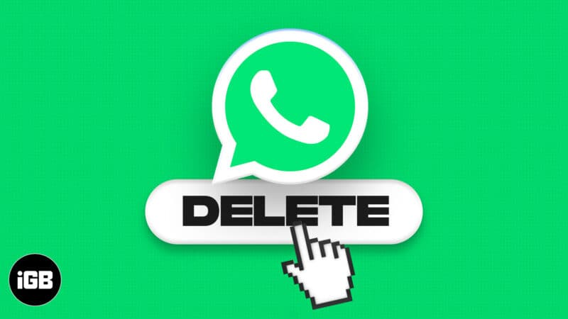 How to delete a WhatsApp account on iPhone