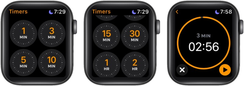 Как запустить предустановленный таймер на Apple Watch