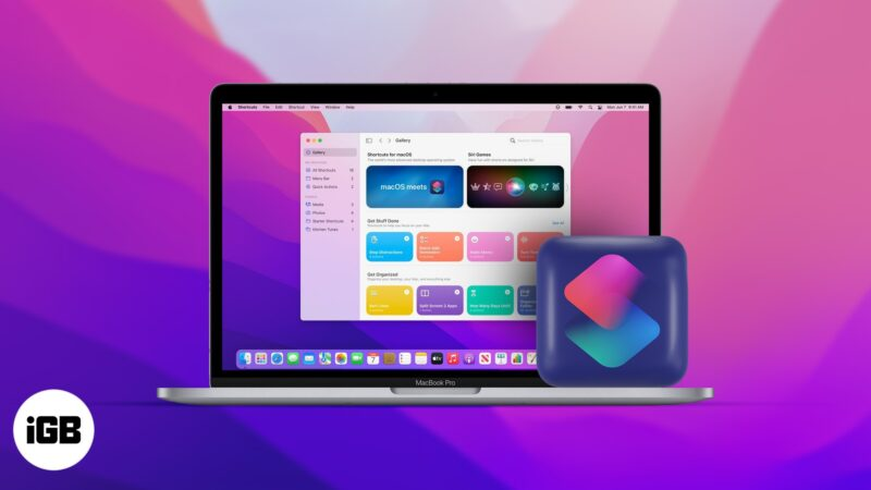How to use Shortcuts on macOS Monterey