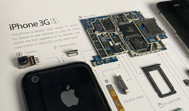 Information about iPhone 3Gs in Frame