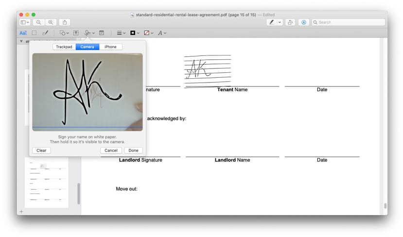 Mac will read and show a mirror image of signature
