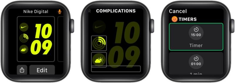 Следите за таймером на циферблате Apple Watch