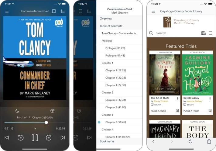 OverDrive audiobook iphone ipad app screenshot