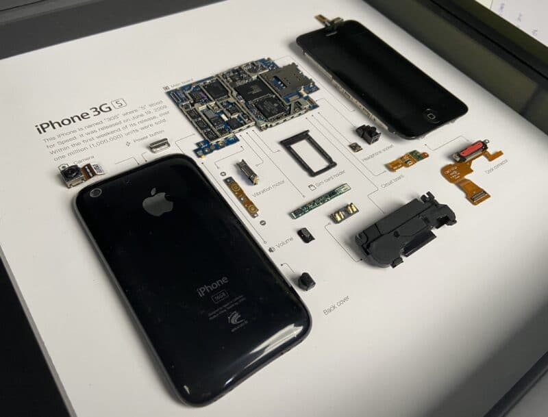 Overall look of iPhone 3Gs frame