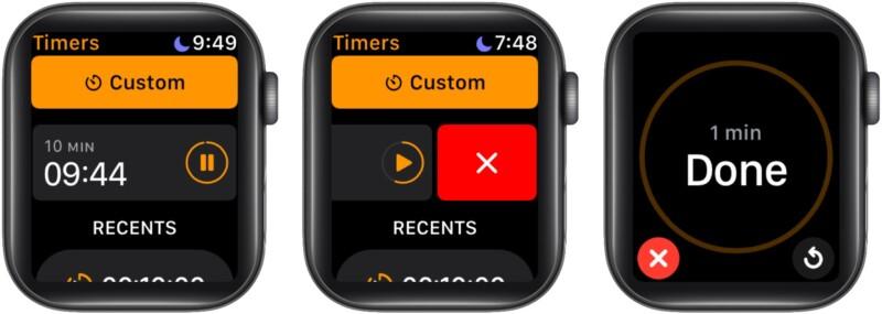 Приостановите таймер на Apple Watch