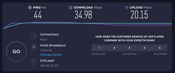 PureVPN - Der empfohlene, nächstgelegene Server