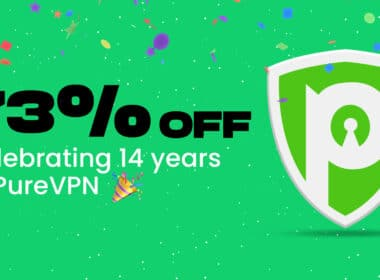 PureVPN for iPhone, iPad and Mac anniversary discount