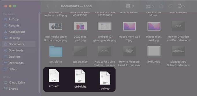 Save Apple Scripts in a separate folder on Mac