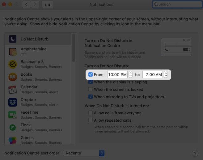 Планирование уведомлений в определенные часы на Mac