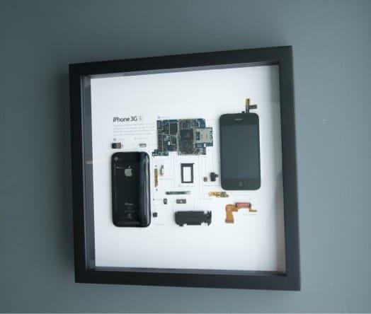 Гладкая деревянная рамка для iPhone Grid 3GS