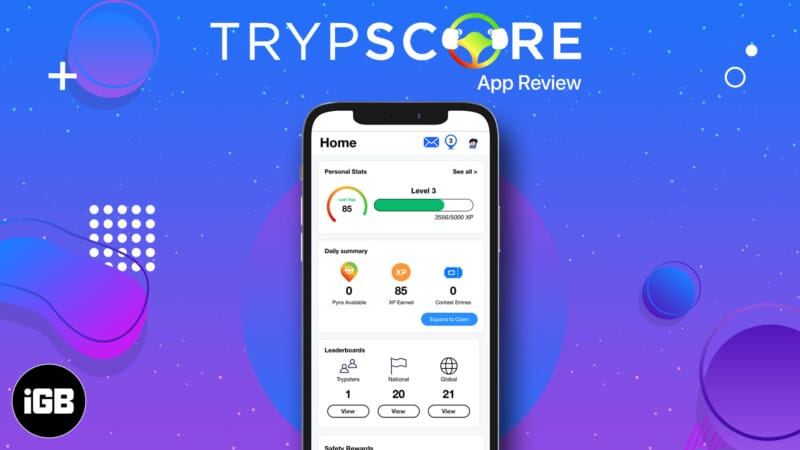 TrypScore for iPhone to make the roadway a safer place