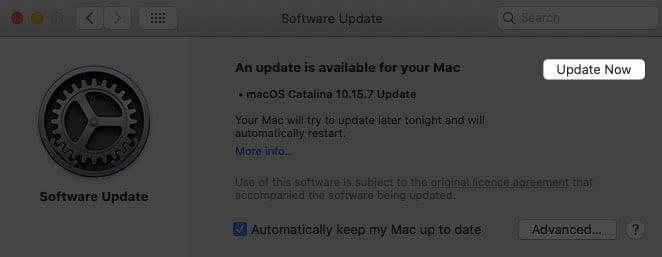 Aktualisieren Sie Ihren Mac