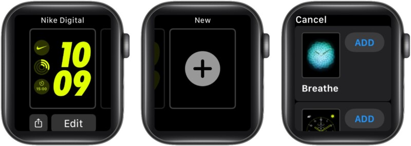 Используйте циферблат Breathe на Apple Watch