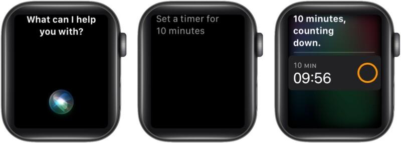 Используйте Siri, чтобы быстро установить таймер на Apple Watch