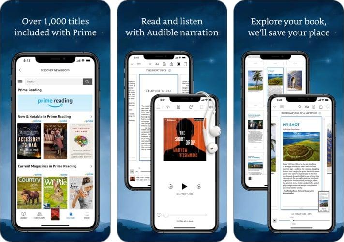 amazon kindle audiobook iphone ipad app screenshot