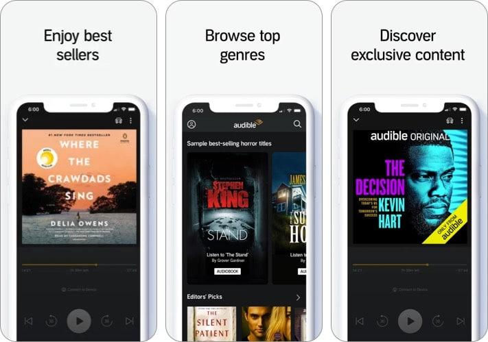 audible audiobook iphone ipad app screenshot