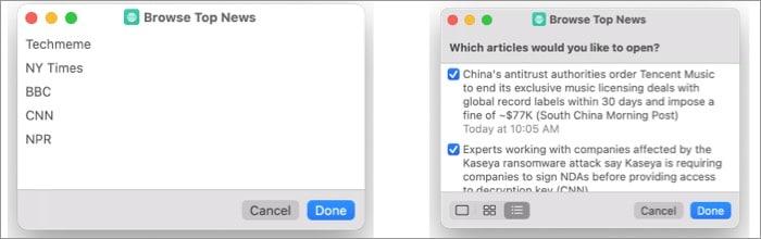 Browse Top News macOS Monterey shortcut