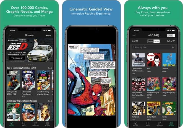 comiXology comic reader iphone ipad app screenshot