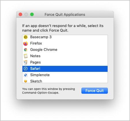Принудительно закрыть Safari и перезапустить его