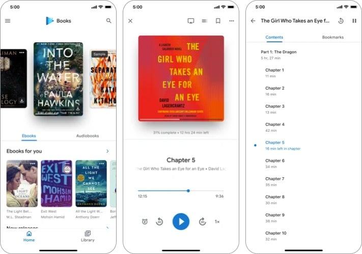 google play books iphone ipad app screenshot