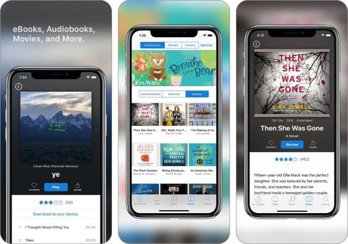hoopla digital audiobook iphone ipad app screenshot