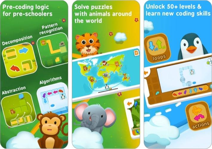 Приложение Hopster Coding Safari для детей для iPhone и iPad