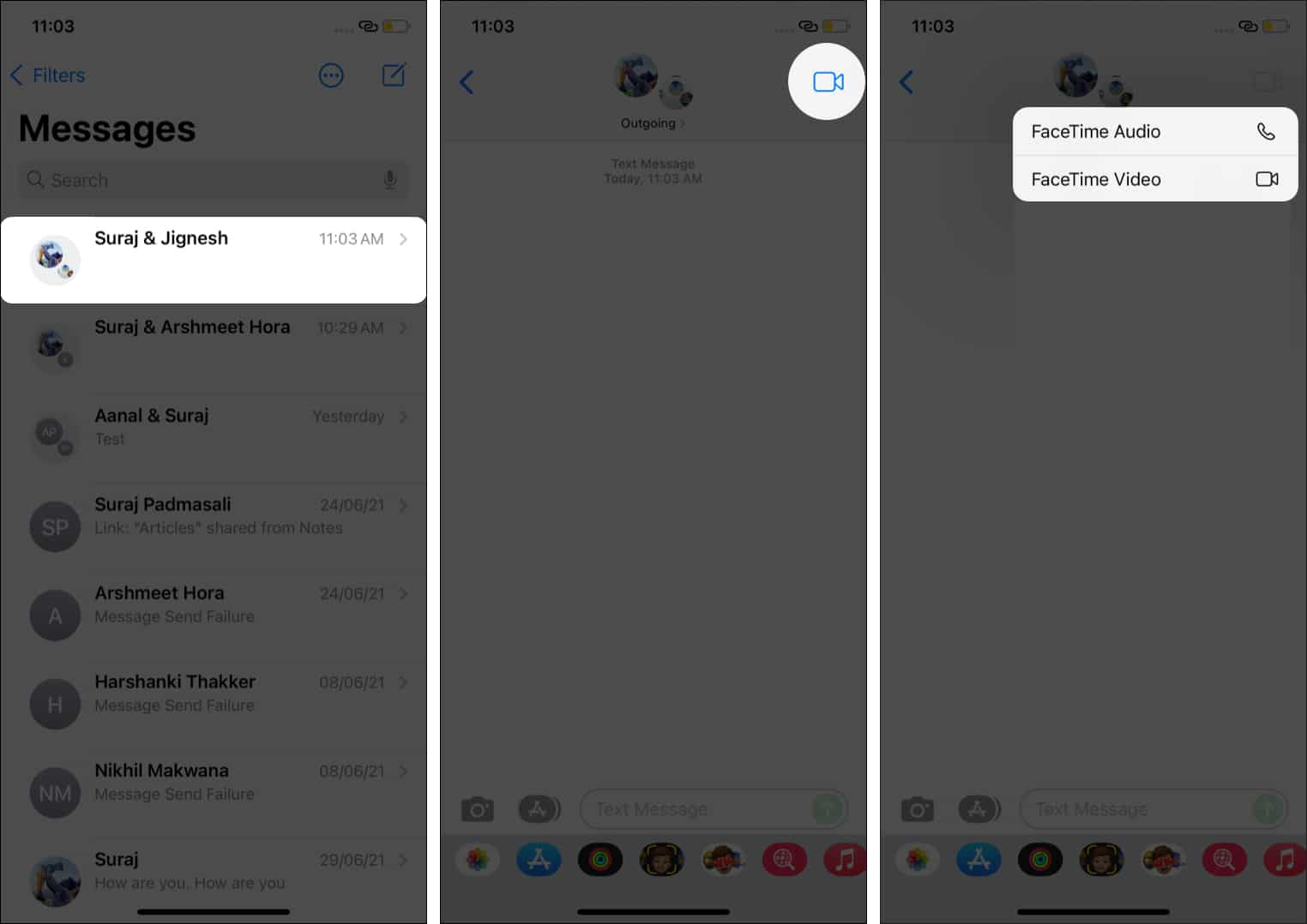 How to start a Group FaceTime call from iMessage groups