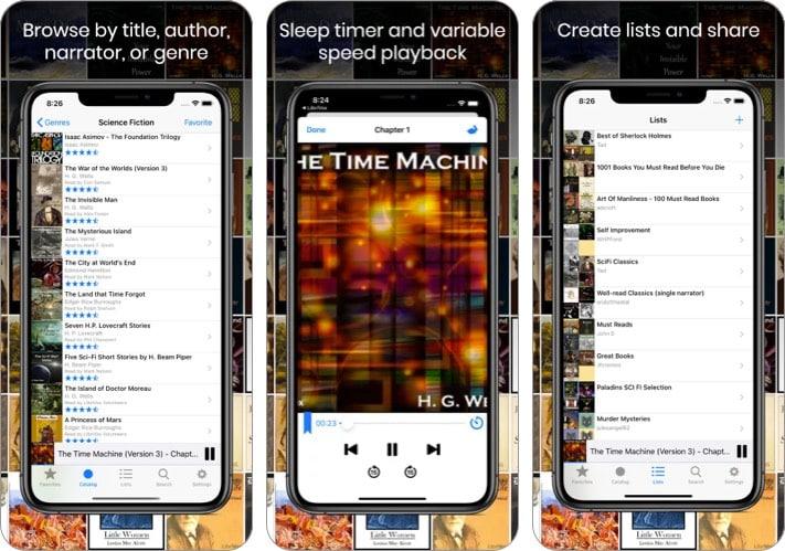 librivox audiobook iphone ipad app screenshot