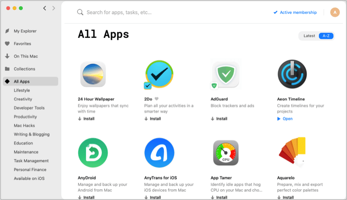 macOS and iOS apps curated with Setapp