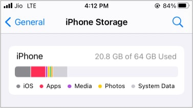 Other renamed toSystem Data in iOS 15