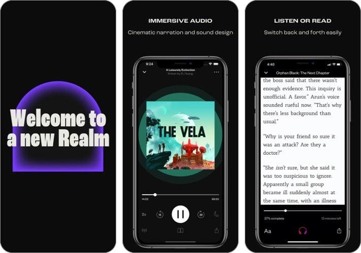 realm audiobook player iphone ipad app screenshot