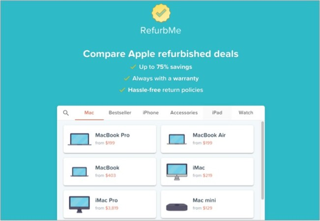 refurbme refurbished Apple products comparator
