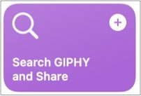 Search GIPHY and Share best macOS Monterey shortcut