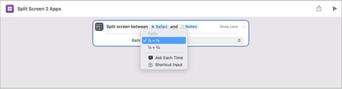 Split Screen 2 Apps macOS Monterey shortcut