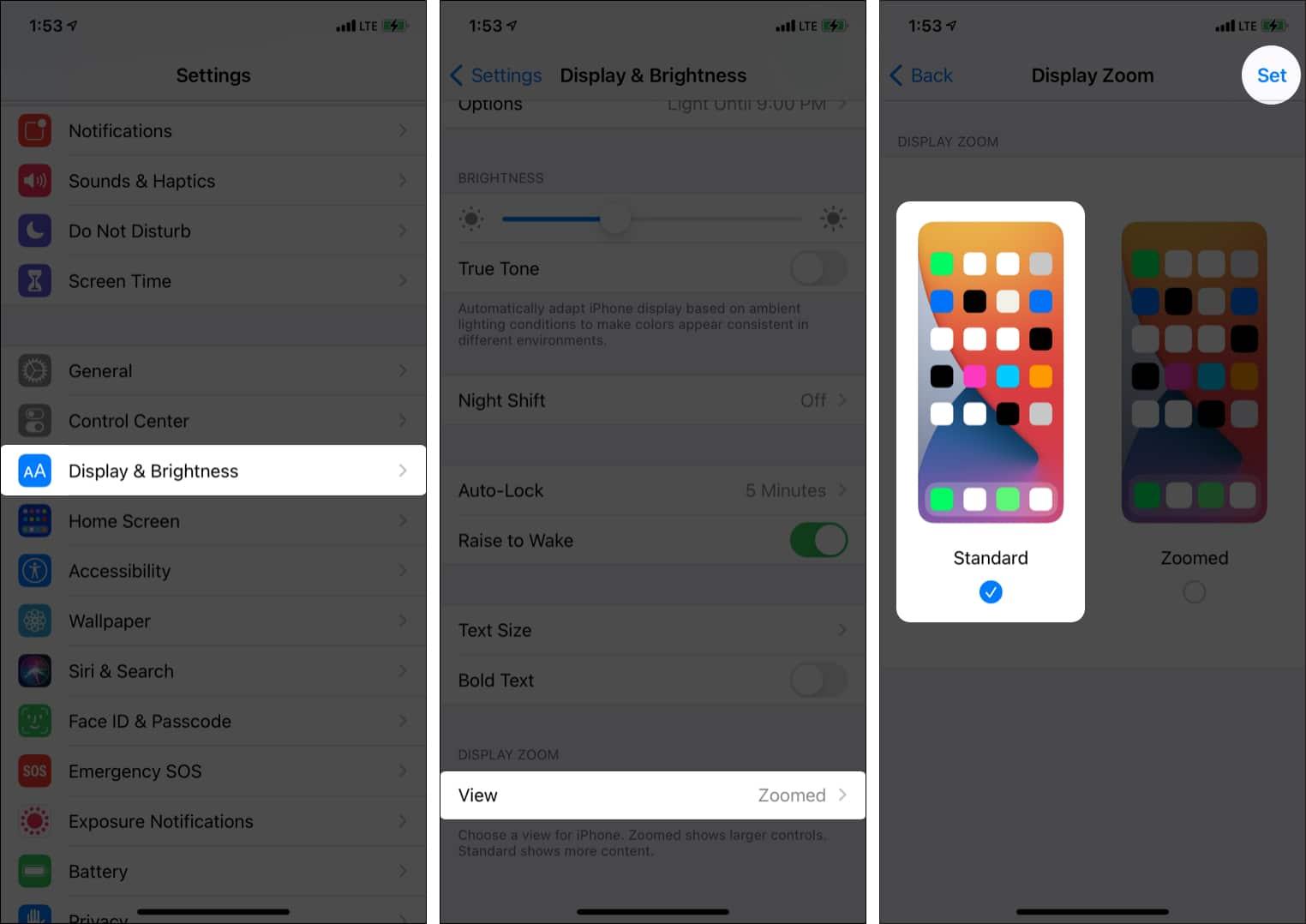 Turn off iPhone display zoom view