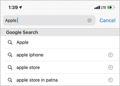 Was ist der angesagte Suchvorschlag bei Google?