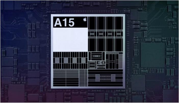A15 Bionic chip design in iPhone 13
