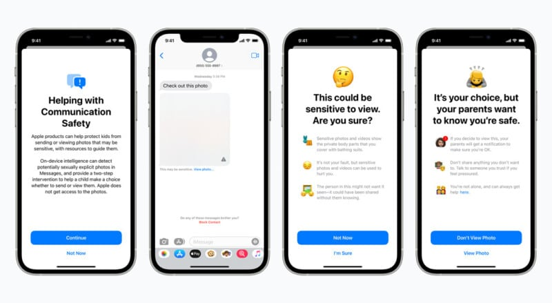 Apple child safety protection features