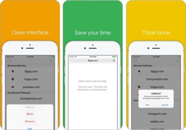 Ablenkende Websites für Safari auf dem iPhone blockieren