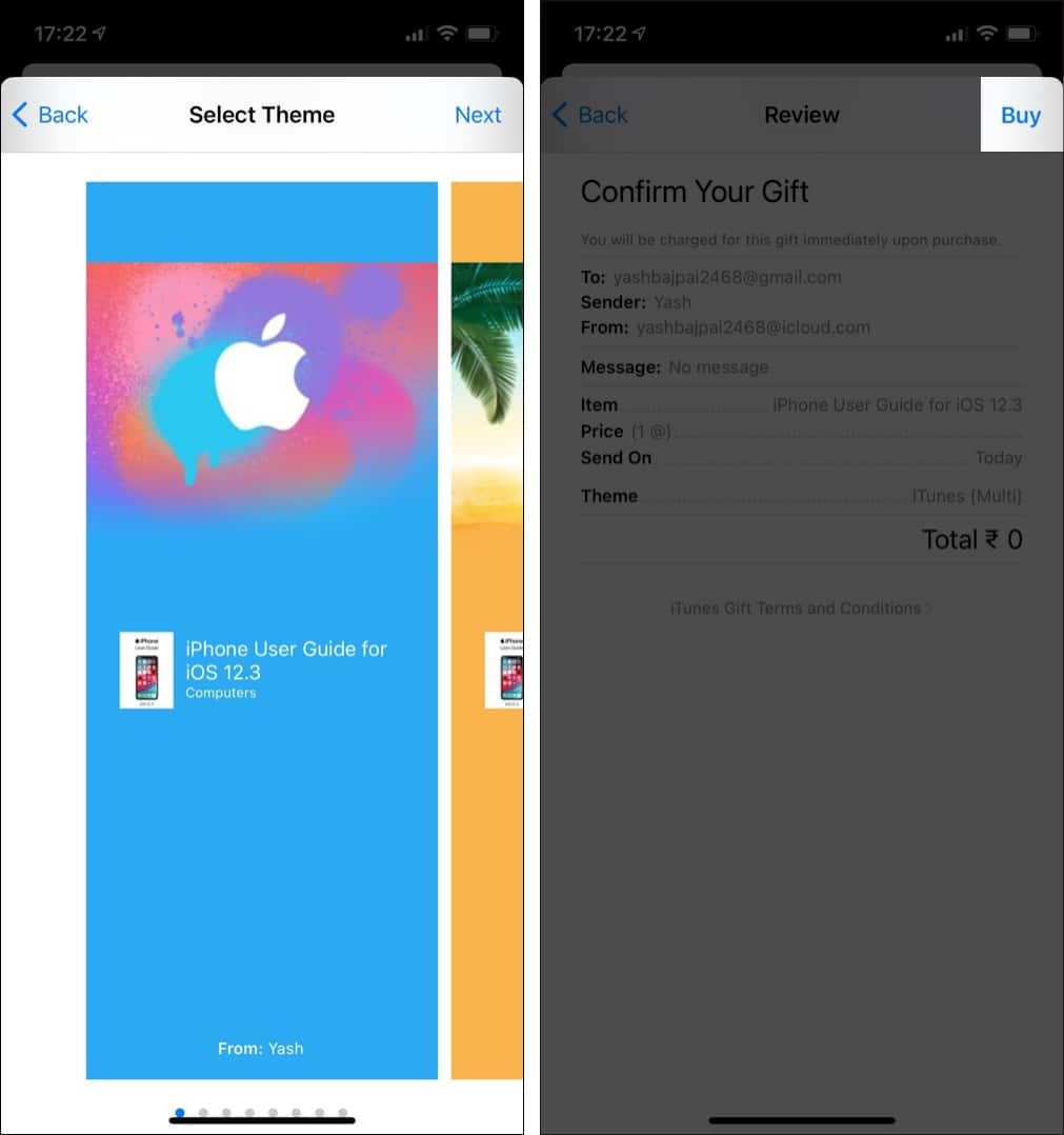 Buy Apple Book from iPhone to share with Family members