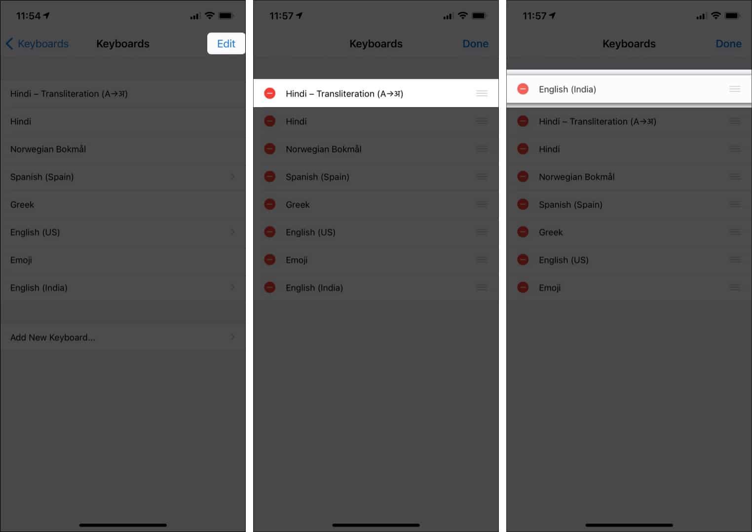 Change default keyboard on iPhone