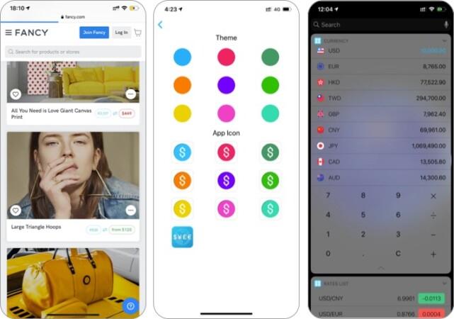 Währungsrechner-Widget-App für iPhone