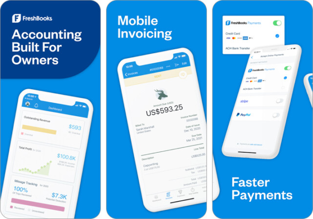 FreshBooks Accounting invoice iPhone and iPad App