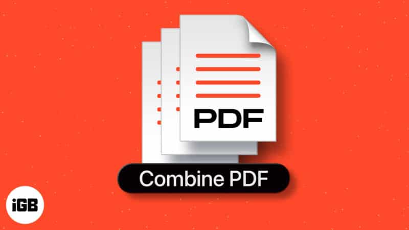 How to combine PDFs on Mac