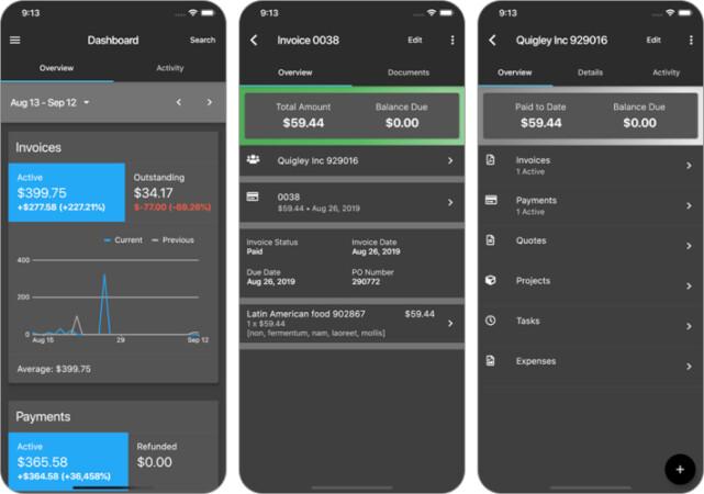 Invoice Ninja iPhone and iPad App