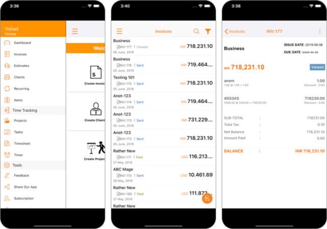 Invoicera invoice iPhone and iPad App