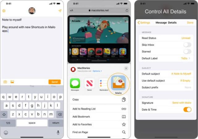 Mailo Safari-Erweiterungs-App für iPhone